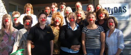 clown nose photograph