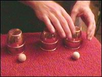 cups and balls magic trick