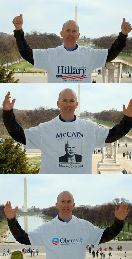 presidential tee shirts obama hilary mccain