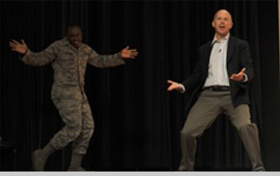 Milking it for Laughs at Scott Air Force Base