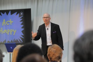 Act happy with motivational speaker Brad Montgomery at events and meetings.