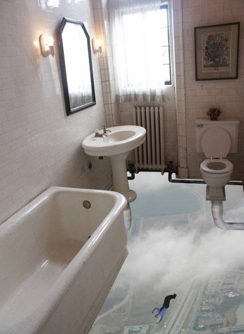 funny bath room