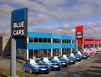 blue cars make easy choices