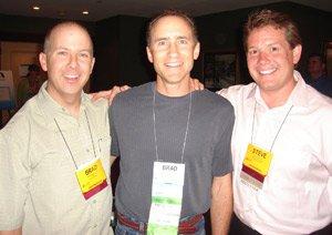 Steve Spangler and Brad Barton...and me